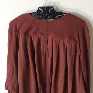Anthropologie Sweaters - Anthropologie Angel of The North Burnt Red Sweater